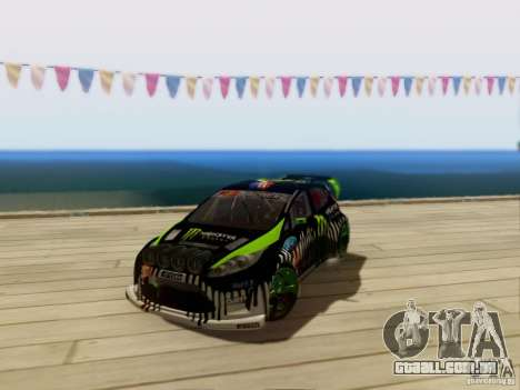 Ford Fiesta Gymkhana 3 para GTA San Andreas esquerda vista