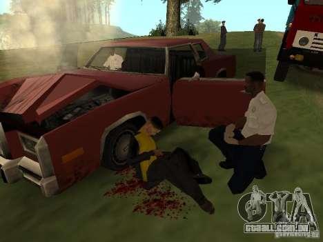 Um acidente horrível para GTA San Andreas terceira tela