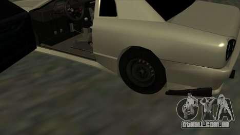 Elegy Roportuance para GTA San Andreas vista interior