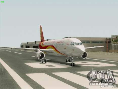 Airbus A320-214 Hong Kong Airlines para GTA San Andreas vista direita