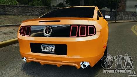 Ford Mustang 2013 Police Edition [ELS] para GTA 4 traseira esquerda vista