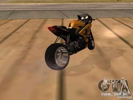 Bajaj Pulsar 620 Custom para GTA San Andreas esquerda vista
