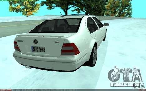 Volkswagen Bora 1.8 para GTA San Andreas traseira esquerda vista