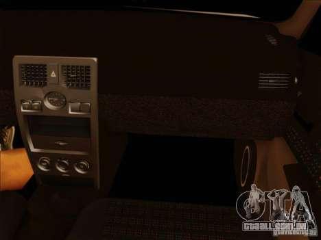 VAZ-2170 para vista lateral GTA San Andreas