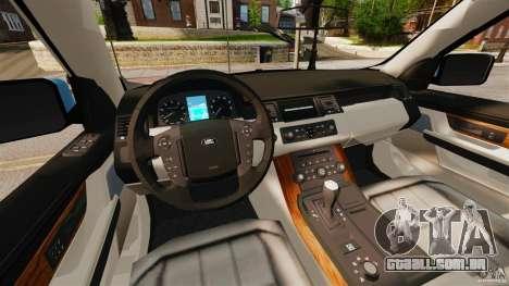 Land Rover Range Rover Sport Supercharged 2010 para GTA 4 vista de volta