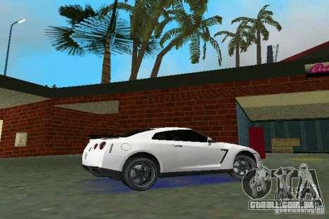 Nissan GT-R Spec V 2010 v1.0 para GTA Vice City vista traseira esquerda