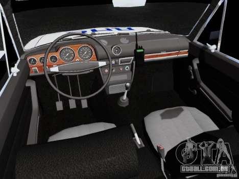 Polícia de 2106 VAZ para GTA San Andreas vista interior