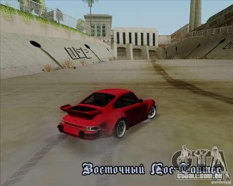 Porsche 911 Turbo para GTA San Andreas vista interior
