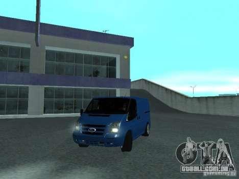 Ford Transit Sport 2011 para GTA San Andreas traseira esquerda vista