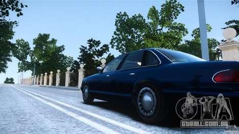 Civilian Taxi - Police - Noose Cruiser para GTA 4 traseira esquerda vista