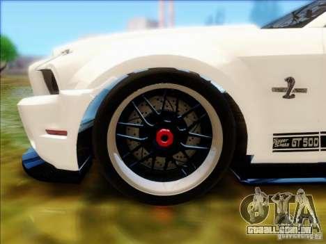Ford Shelby GT500 SuperSnake NFS The Run Edition para GTA San Andreas vista direita
