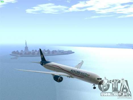 Boeing 787-8 Dreamliner AeroMexico para vista lateral GTA San Andreas