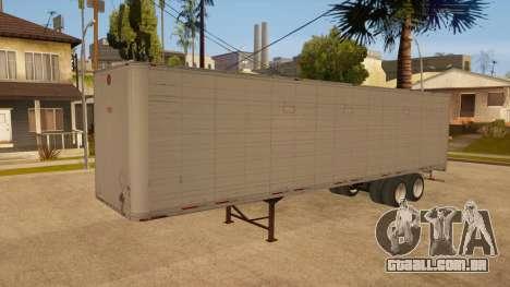 Reboque todo em metal para vista lateral GTA San Andreas