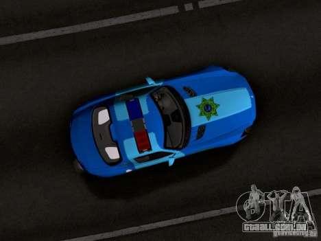 Mercedes-Benz SLS AMG Blue SCPD para GTA San Andreas vista interior