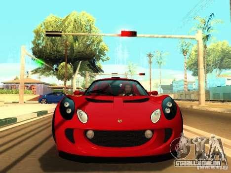 Lotus Exige 240R para GTA San Andreas esquerda vista