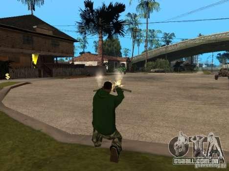 Utilização do armazém sua gangue para GTA San Andreas por diante tela