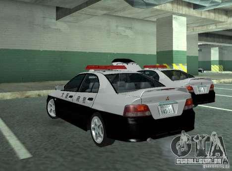 Mitsubishi Galant Police para GTA San Andreas traseira esquerda vista