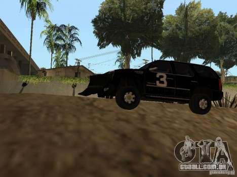Cadillac Escalade Tallahassee para GTA San Andreas vista traseira