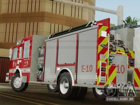 Pierce Saber LAFD Engine 10 para GTA San Andreas vista superior