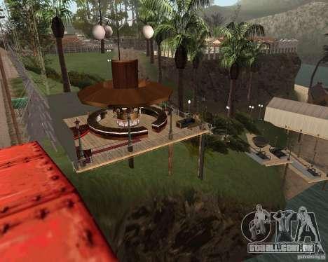 Villa na lagoa de pesca para GTA San Andreas terceira tela