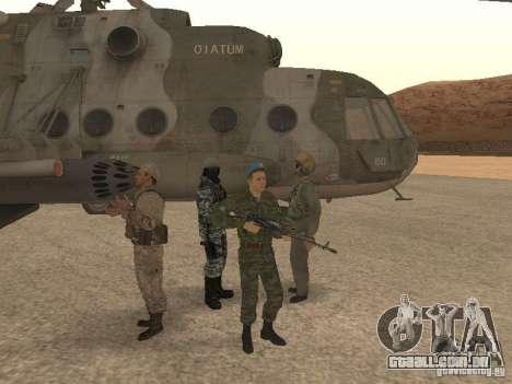 Spetsnaz VDV para GTA San Andreas terceira tela