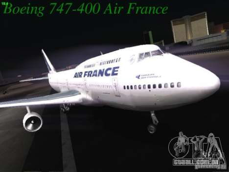 Boeing 747-400 Air France para GTA San Andreas