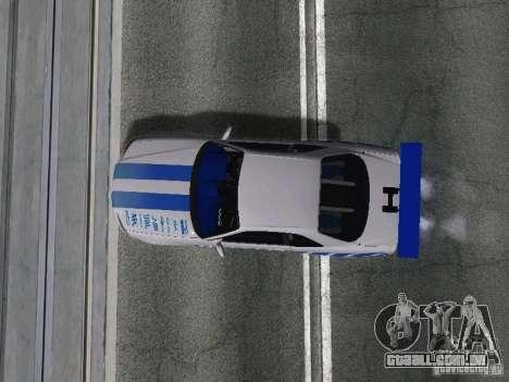 Nissan Skyline GT-R R34 para GTA San Andreas vista traseira
