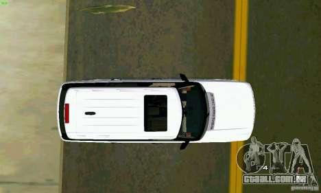 Land Rover Range Rover Supercharged 2008 para GTA Vice City vista traseira