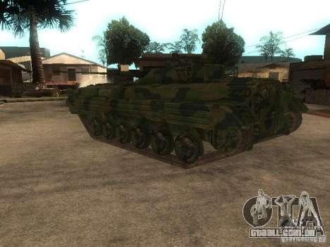 BMP-2 no COD MW2 para GTA San Andreas traseira esquerda vista