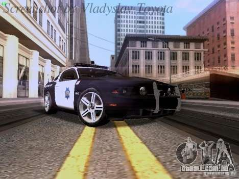 Ford Mustang GT 2011 Police Enforcement para GTA San Andreas esquerda vista