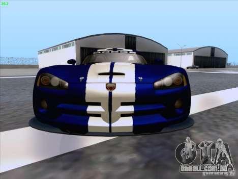 Dodge Viper GTS-R Concept para GTA San Andreas vista inferior
