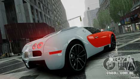 Bugatti Veyron 16.4 v1.0 wheel 1 para GTA 4 vista superior