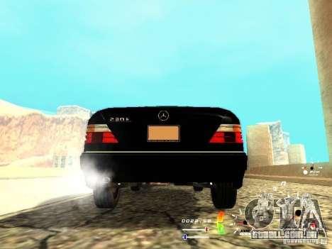 Mercedes-Benz 230E para GTA San Andreas traseira esquerda vista
