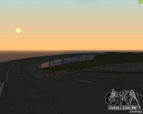 Terminou a construção da estrada para a Rússia d para GTA San Andreas terceira tela