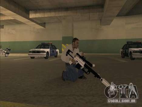Chrome Weapons Pack para GTA San Andreas por diante tela