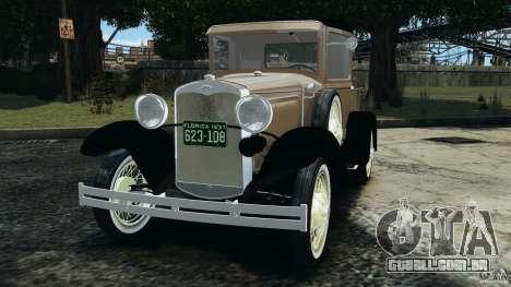 Ford Model A Pickup 1930 para GTA 4