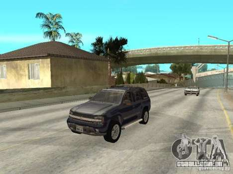 Chevrolet TrailBlazer 2003 para GTA San Andreas vista interior