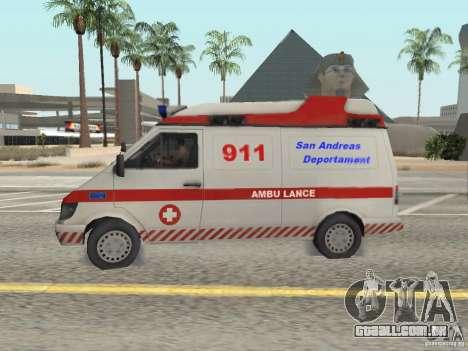 Ford Transit Ambulance para GTA San Andreas esquerda vista