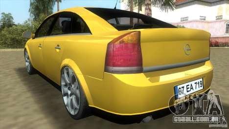 Opel Vectra para GTA Vice City vista direita
