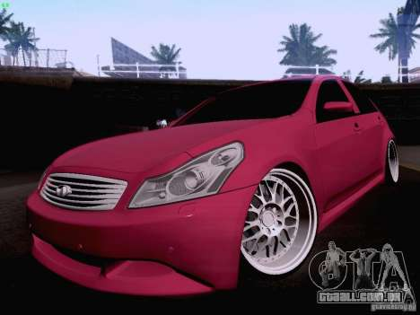 Infiniti G37 Sedan para GTA San Andreas vista inferior