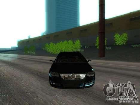 Volkswagen Passat B6 Variant Com Bentley 20 Fixa para GTA San Andreas vista superior