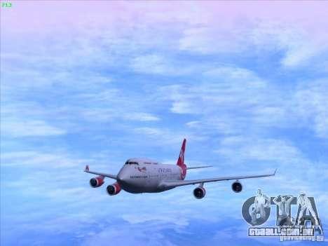 Boeing 747-4Q8 Lady Penelope para GTA San Andreas traseira esquerda vista