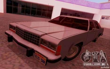 Ford Crown  Victoria LTD 1985 para GTA San Andreas traseira esquerda vista