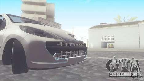 Peugeot 207 RC para GTA San Andreas traseira esquerda vista