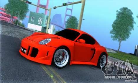 Porsche Cayman S v2 para GTA San Andreas esquerda vista