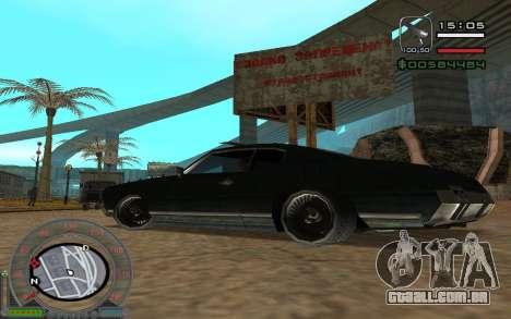 New Sabre para GTA San Andreas vista interior