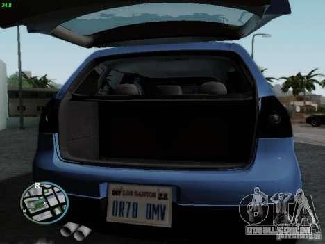 Volkswagen Golf V R32 Black edition para GTA San Andreas vista interior
