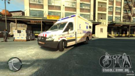 Mercedes-Benz Sprinter Ambulance para GTA 4 esquerda vista