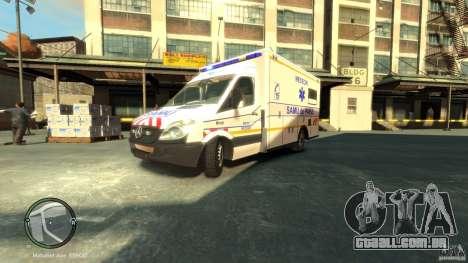 Mercedes-Benz Sprinter Ambulance para GTA 4 esquerda vista