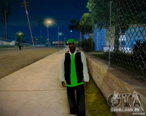 Skins pack gang Grove para GTA San Andreas por diante tela